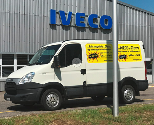 Glaus & Co. AG Mietwagen IVECO Daily