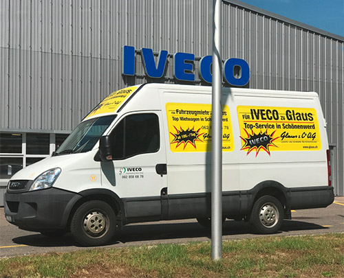 Glaus & Co. AG Mietwagen IVECO Daily 10.8
