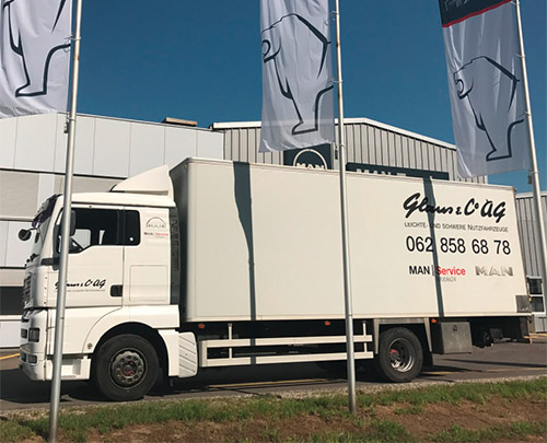Glaus & Co. AG Mietwagen MAN 18.413