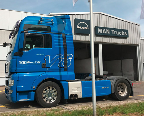 Glaus & Co. AG Mietwagen MAN 18.680